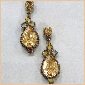 Sorrelli Golden Iridescent Crystal Earrings,NWT